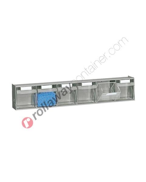 Cassettiera portaminuteria mm 600 x 98 H 112 con 6 cassetti