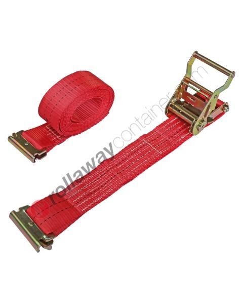 Cinghia a cricchetto per fissaggio e fermacarico da 50 mm con gancio tendex