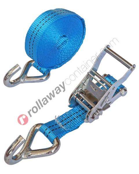 Cinghia a cricchetto per fissaggio e fermacarico da 35 mm con gancio uncino