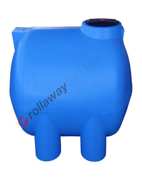 Cisterna acqua orizzontale cilindrica con piedi di appoggio da 500 a 12600 litri