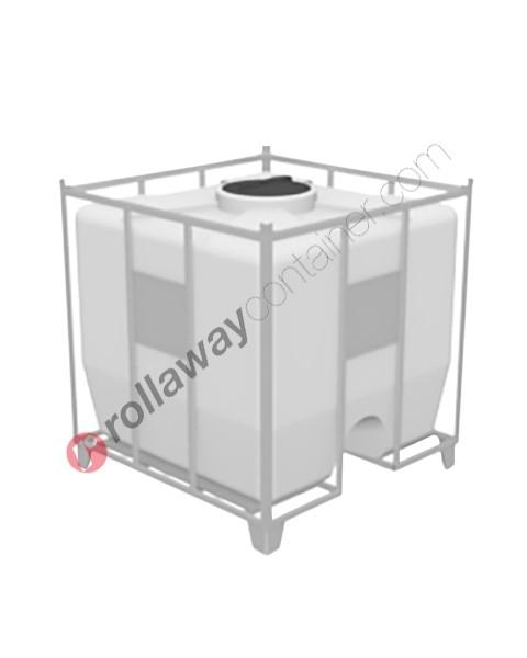 Cisterna in plastica pallettizzata per stoccaggio e trasporto liquidi