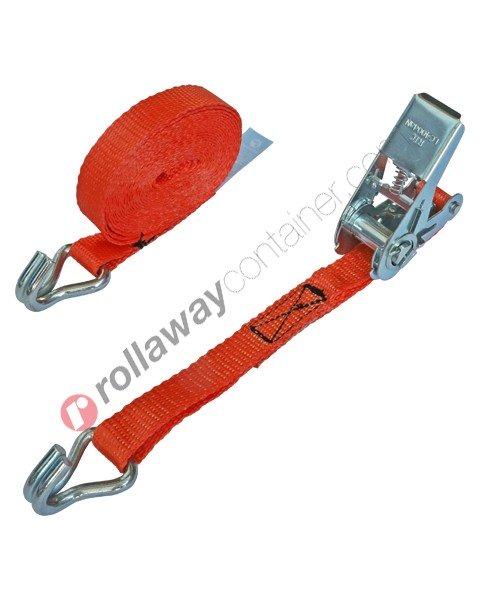 Cinghia a cricchetto per fissaggio e fermacarico da 25 mm con gancio uncino