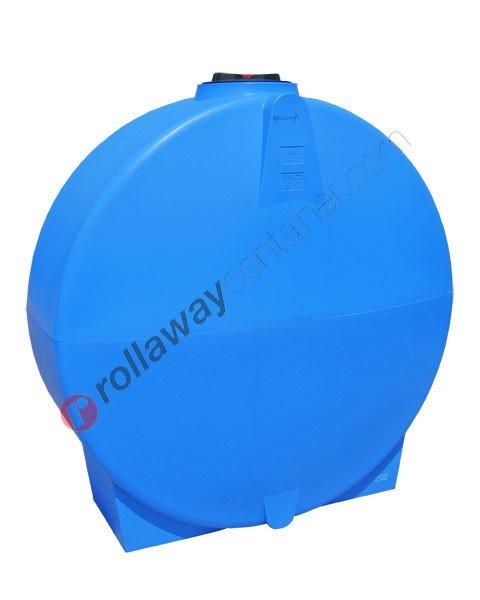 Cisterna acqua compatta orizzontale cilindrica da 500 a 1500 litri