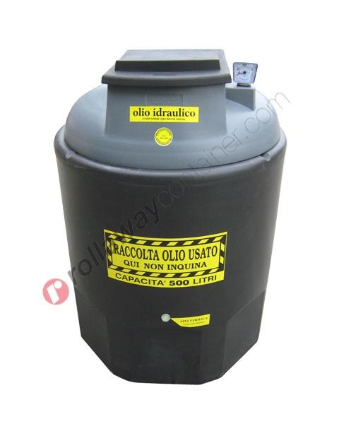 Contenitore olio esausto idraulico da 260 a 1200 litri in HDPE Ecoil Duplex