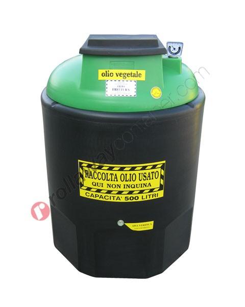Contenitore olio esausto vegetale da 260 a 1200 litri in HDPE Ecoil Duplex