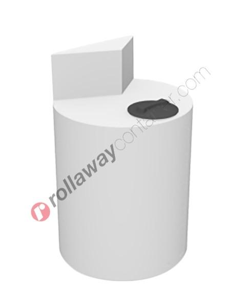 Contenitore per stazioni di dosaggio verticale cilindrico con alzata verticale