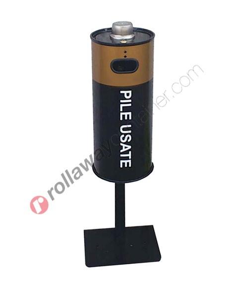 Contenitore pile esauste in acciaio capacità 16 litri