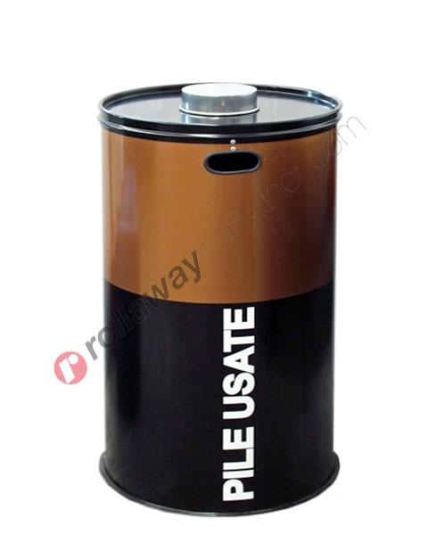 Contenitore pile esauste in acciaio capacità 60 litri