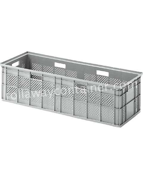 Contenitore in plastica 1060 x 395 H 295 medio litri 100 pareti forate