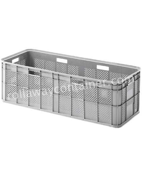 Contenitore in plastica 1190 x 490 H 370 medio litri 180 pareti forate