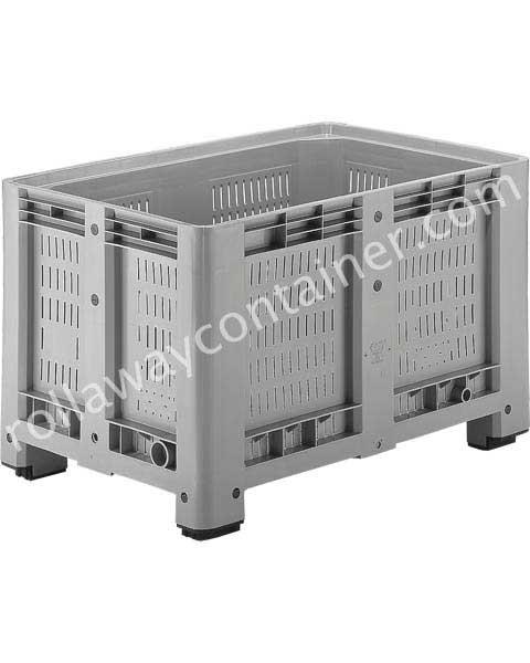 Contenitore in plastica per industria 1200 x 800 H 760 pesante litri 470 forato