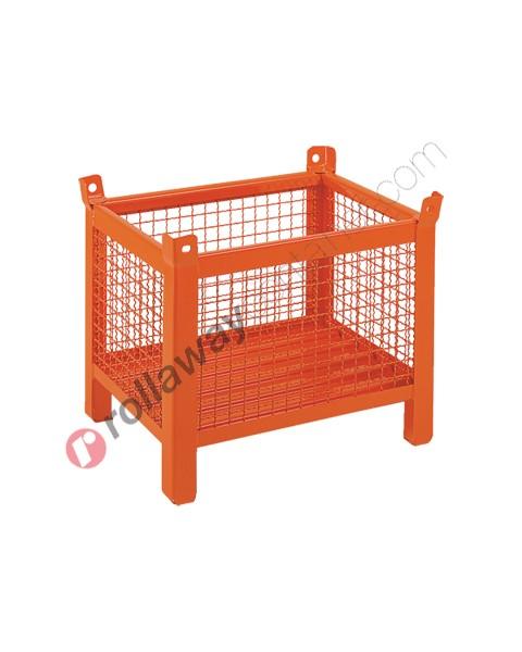 Contenitore in rete metallica piccolo con piedi scatolati