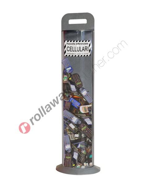 Contenitore smaltimento cellulari in plastica capacità 10 litri