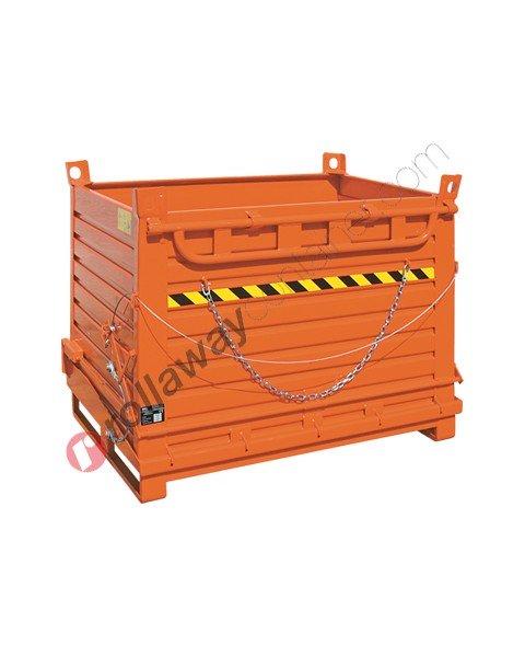 Contenitore a fondo apribile con fondello unico portata 1300-1400 kg
