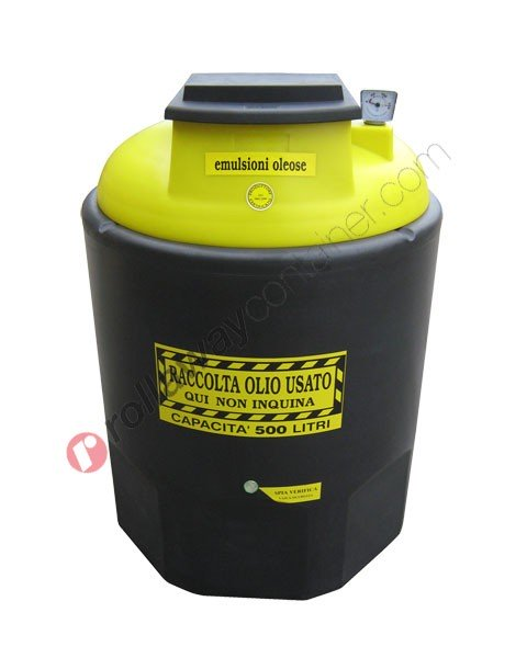 Contenitore emulsioni oleose esauste da 260 a 1200 litri in HDPE Ecoil Duplex