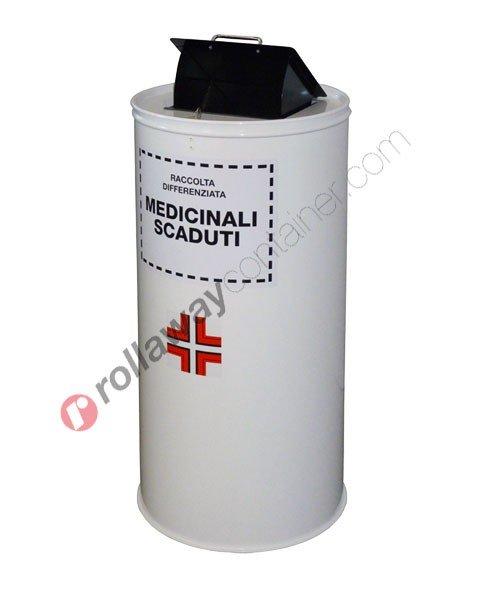 Contenitore farmaci scaduti cilindrico