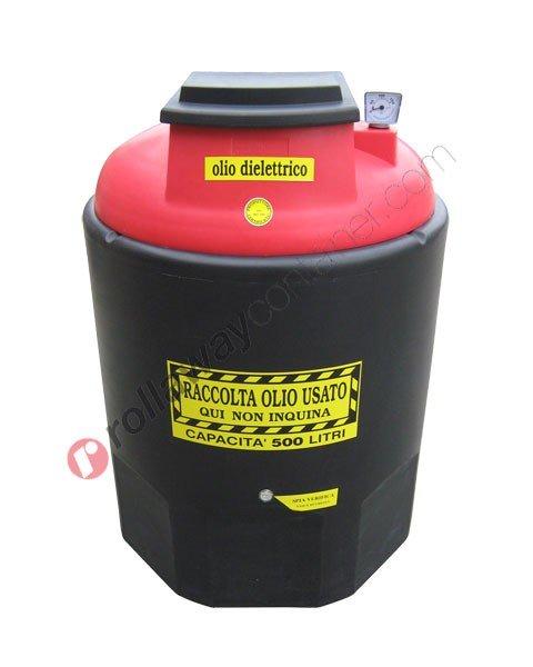 Contenitore olio esausto dielettrico da 260 a 1200 litri in HDPE Ecoil Duplex