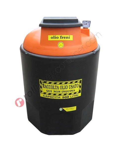 Contenitore olio esausto freni da 260 a 1200 litri in HDPE Ecoil Duplex