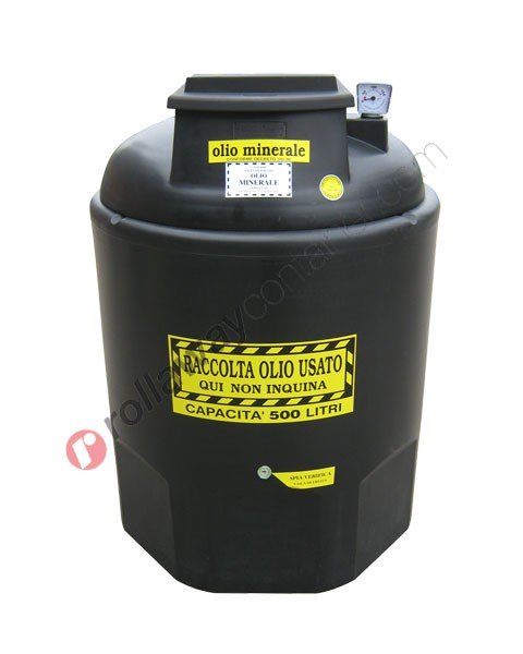 Contenitore olio esausto minerale da 260 a 1200 litri in HDPE Ecoil Duplex