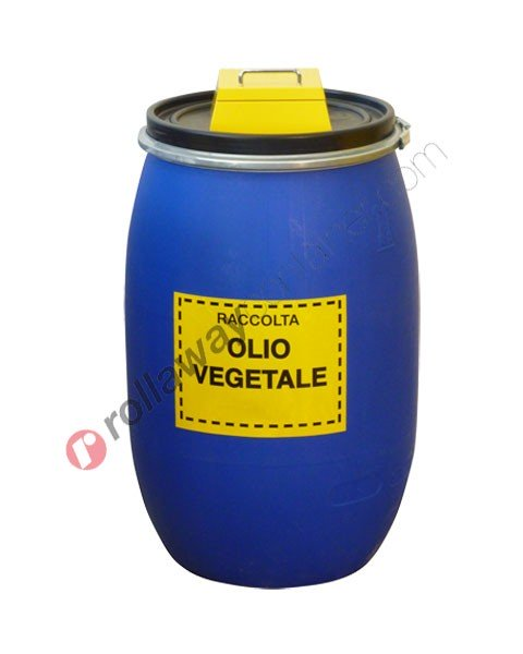Contenitore olio esausto vegetale in fusto da 120 litri RistOil
