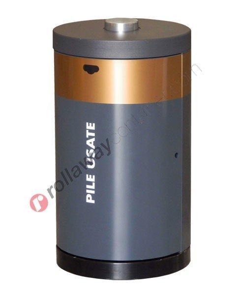 Contenitore pile esauste in acciaio capacità 120 litri