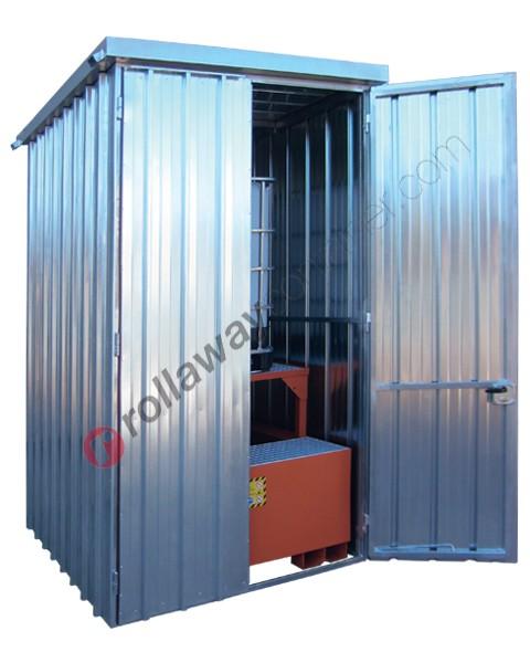 Deposito di stoccaggio in acciaio zincato 1750 x 1915 x 2730 mm