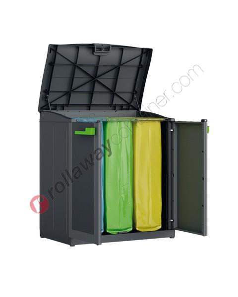 Mobile per differenziata 3 posti cm 90 x 55 x 100