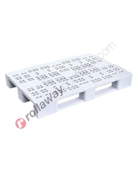Pallet in plastica HDPE industriale e alimentare rinforzato mm 800 x 1200