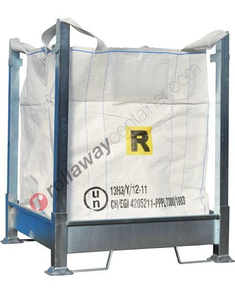 Porta big bag in acciaio zincato smontabile 1070 x 1070 x 1350 mm