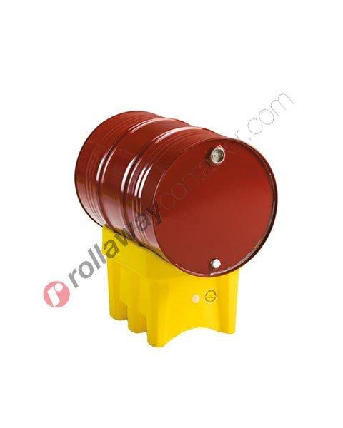 Porta fusti in polietilene HDPE mm 610 x 465 H 410 per fusti da 60 a 220 litri