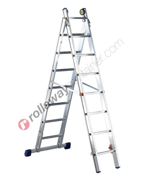 Scala allungabile a 2 rampe professionale alta gamma De Luxe