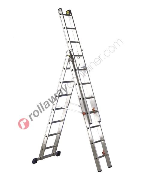 Scala allungabile a 3 rampe professionale alta gamma De Luxe