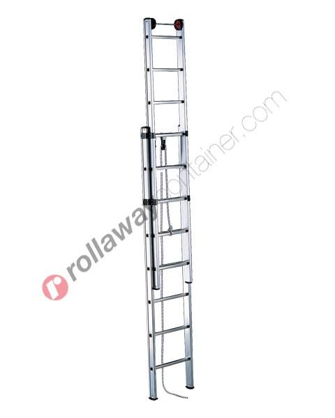 Scala allungabile con fune a 2 rampe professionale Euro