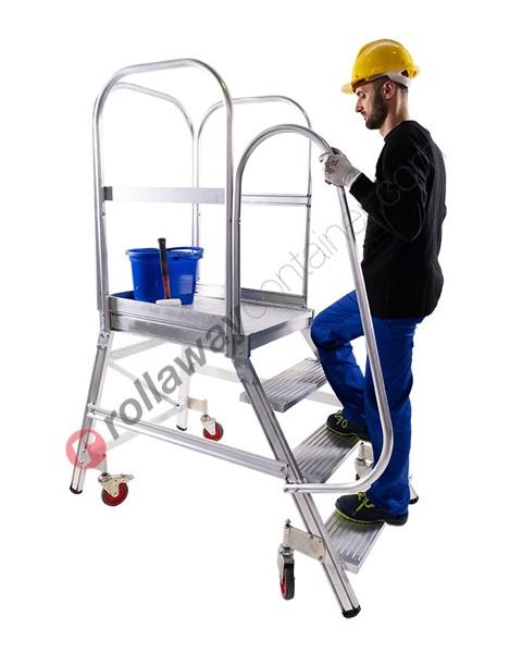 Scala a palco professionale con piattaforma e gradini maggiorati