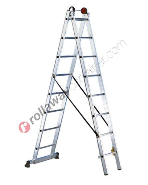 Scala allungabile a 2 rampe professionale Euro