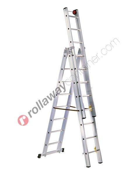 Scala allungabile a 3 rampe professionale Euro