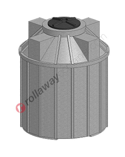 Serbatoio acqua da interro cilindrico verticale coperchio a vite da 1200 a 2200 litri