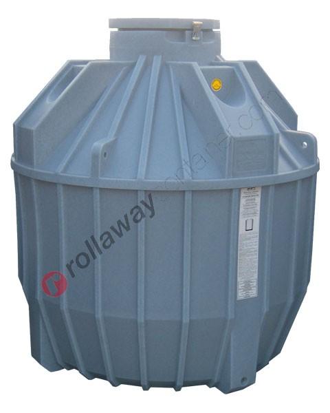 Serbatoio acqua piovana da interro cilindrico verticale coperchio ribaltabile da 900 a 12000 litri