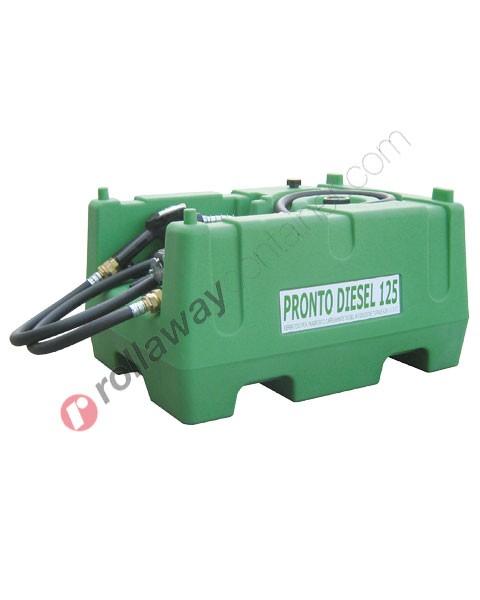 Serbatoio gasolio 125 litri con pompa 12V pistola e tubo