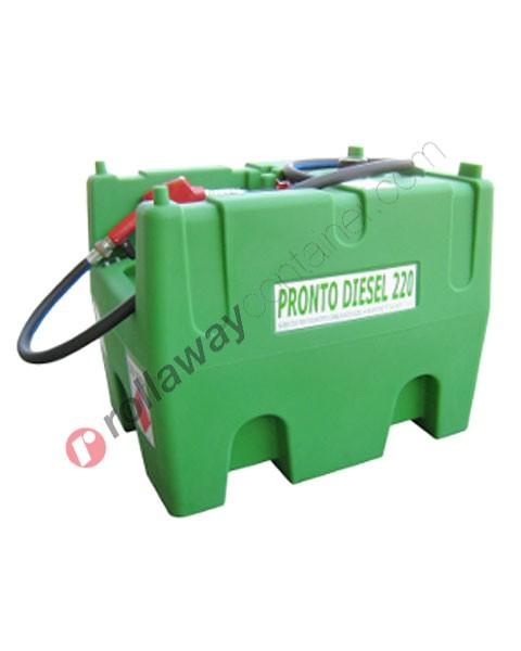 Serbatoio gasolio 220 litri con pompa 12V pistola e tubo