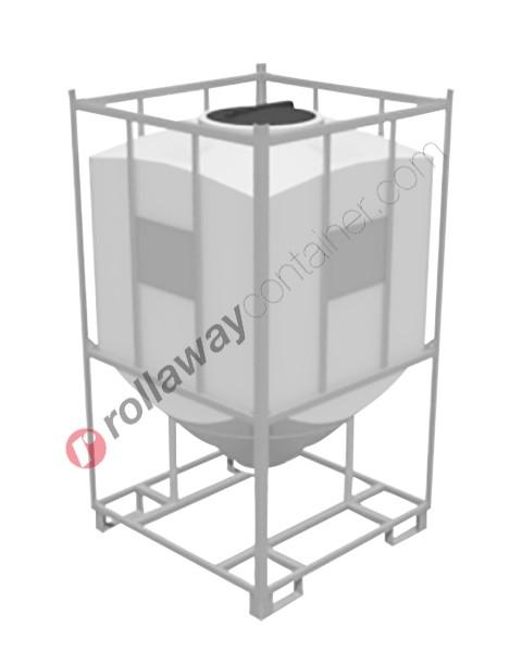 Serbatoio per alimenti e prodotti chimici liquidi e solidi in polietilene tronco-piramidale serie pesante