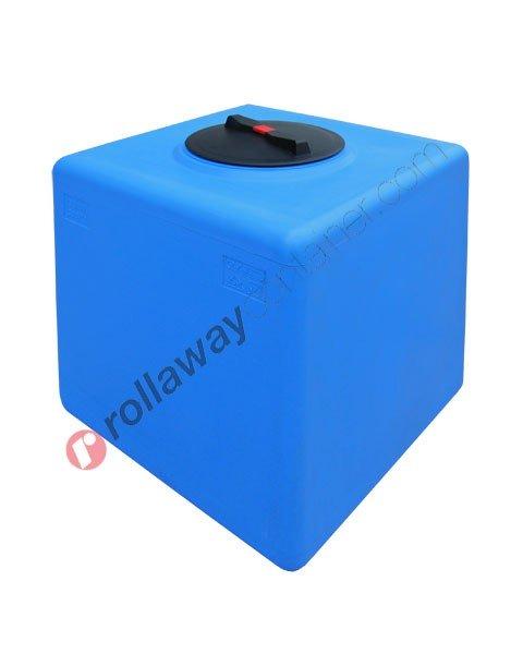 Serbatoio acqua cubico sviluppo verticale pareti lisce da 30 a 500 litri
