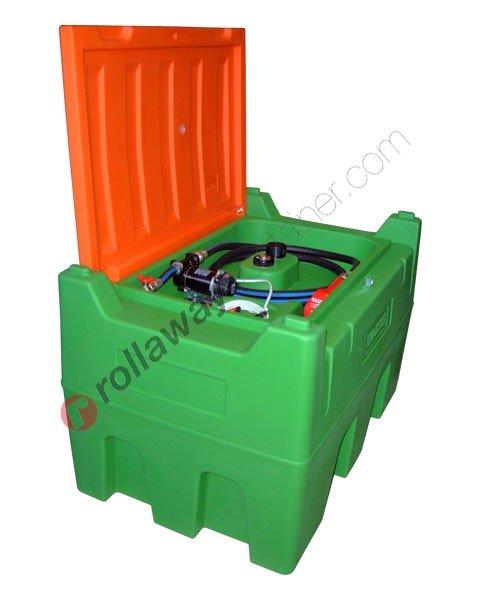 Serbatoio gasolio 430 litri con pompa 12V pistola e tubo