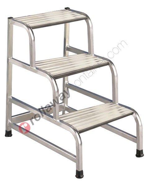Sgabello in alluminio industriale uso professionale Cargo