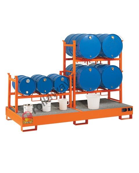 Stazione di stoccaggio per fusti olio con di raccolta mm 2720 x 1250 x 300