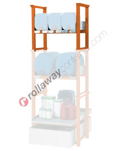 Supporto sovrapponibile in acciaio porta canestri orizzontale mm 835 x 590 H 790