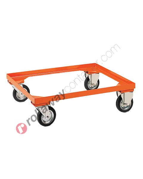 Telaio con ruote per movimentazione contenitori metallici industriali
