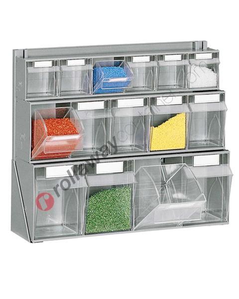 Telaio da banco con cassettiere mm 610 x 190 H 500 cassetti 15 totali