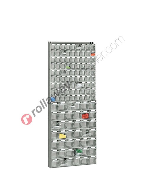 Telaio da parete con cassettiere mm 600 x 113 H 1500 cassetti 123 totali