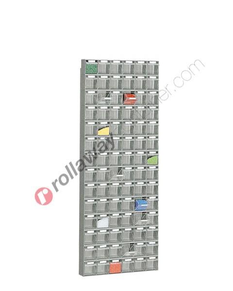 Telaio da parete con cassettiere mm 600 x 113 H 1568 cassetti 84 totali